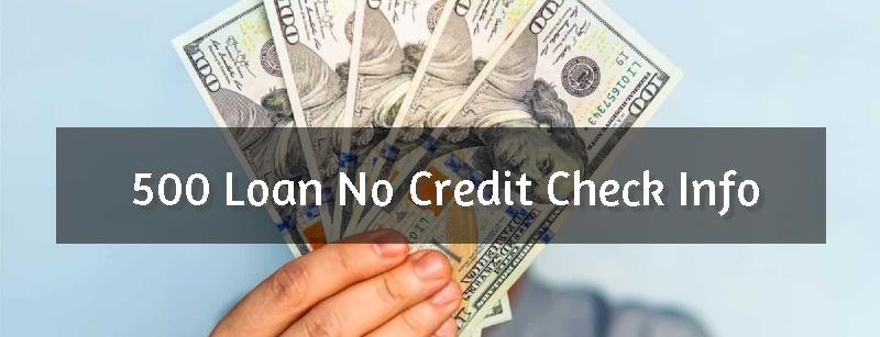 No Credit Check 500 Loan Header